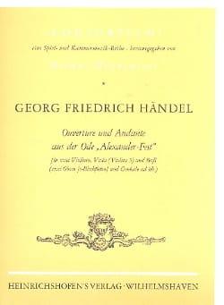 HAENDEL - Ouverture Und Andante Aus Der Ode Alexander-Fest - Partition - di-arezzo.fr
