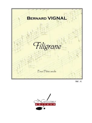 Filigrane Bernard Vignal Partition Flûte traversière - laflutedepan
