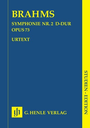 BRAHMS - Symphony No. 2 in D major op. 73 - Sheet Music - di-arezzo.co.uk