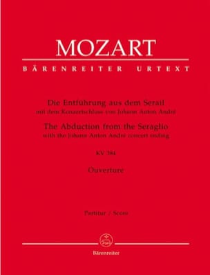 MOZART - Die Entführung aus dem Serail KV 384 - Opening - Partitur - Sheet Music - di-arezzo.co.uk