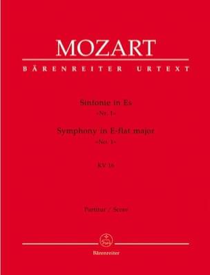 Wolfgang Amadeus Mozart - Symphonie Nr. 1 Es-Dur KV 16 – Partitur - Partition - di-arezzo.fr