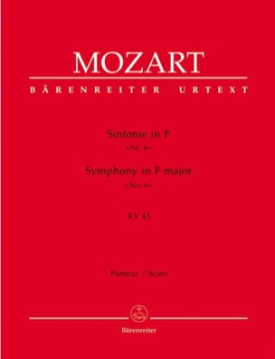 Symphonie Nr. 6 F-Dur KV 43 - Partitur - MOZART - laflutedepan.com