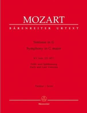 Symphonie G-Dur KV Anh. 221 45a - Partitur - MOZART - laflutedepan.com