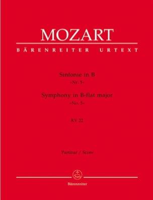Wolfgang Amadeus Mozart - Symphonie (Nr. 5) B-Dur KV 22 – Partitur - Partition - di-arezzo.fr