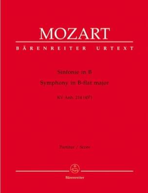 Wolfgang Amadeus Mozart - Symphonie B-Dur KV Anh. 214 (45b) – Partitur - Partition - di-arezzo.fr