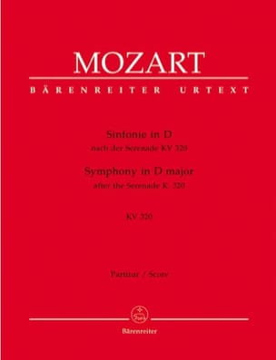 Symphonie D-Dur nach Serenade KV 320 - Partitur - laflutedepan.com