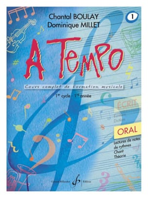 BOULAY - MILLET - A Tempo Volume 1 - Oral - Partition - di-arezzo.fr
