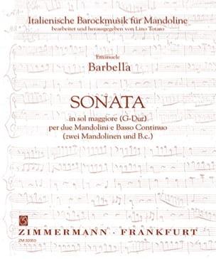 Emanuele Barbella - Sonata in sol maggiore -2 Mandolini e Bc - Partition - di-arezzo.fr