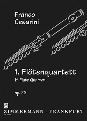 Flötenquartett Nr. 1 op. 26 Franco Cesarini Partition laflutedepan