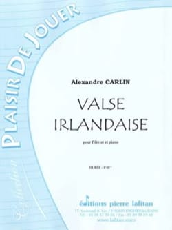 Valse irlandaise - Flûte Alexandre Carlin Partition laflutedepan