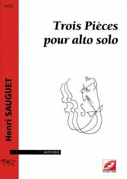 3 Pièces Henri Sauguet Partition Alto - laflutedepan
