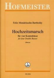 Bartholdy Felix Mendelssohn - Hochzeitsmarsch - 4 Contrebasses - Partition - di-arezzo.fr