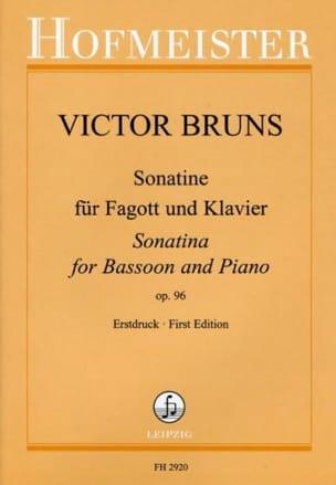 Victor Bruns - Sonatine op. 96 -Fagott und Klavier - Partition - di-arezzo.fr