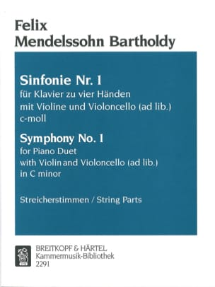 MENDELSSOHN - Cminの交響曲第1番 - 楽譜 - di-arezzo.jp