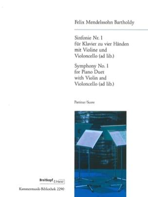 Symphonie Nr. 1 -Klavier 4 Händen Violine u. Cello ad lib. - laflutedepan.com