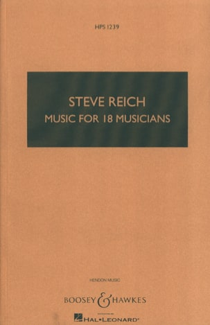 Steve Reich - Music For 18 Musicians - Partition - di-arezzo.fr
