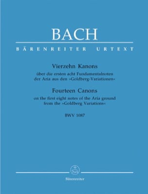 BACH - 14 Canons BWV 1087 - Conducteur - Partition - di-arezzo.fr