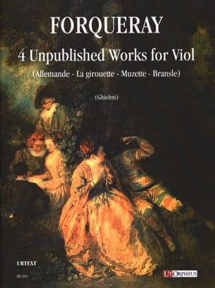 Antoine Forqueray - 4 Compositions Inédites pour viole de gambe - Partition - di-arezzo.fr