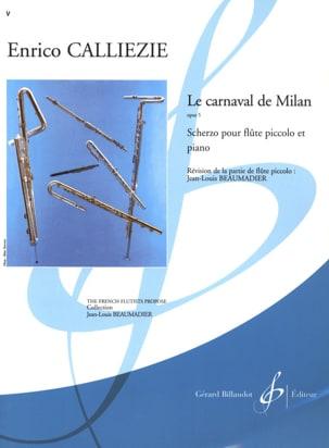 Enrico Calliezie - Le carnaval de Milan op. 5 - Scherzo - Partition - di-arezzo.fr