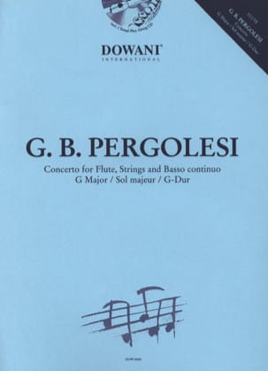 Giovanni Battista Pergolesi - Flute Concerto in G minor - Sheet Music - di-arezzo.com