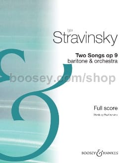Igor Stravinsky - Two Songs - Partition - di-arezzo.fr