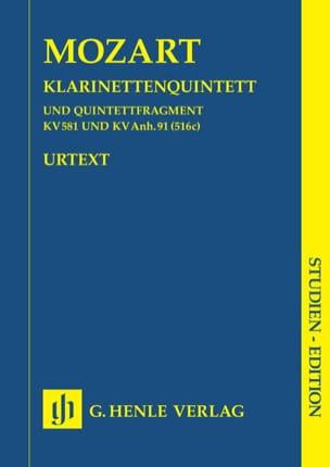 MOZART - Klarinettenquintett KV 581 u. KV Anh. 91 - Partitur - Sheet Music - di-arezzo.co.uk