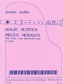 12 Petites Pieces Modales - Jacques Chailley - laflutedepan.com