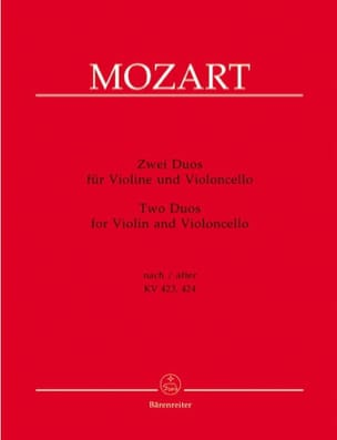 MOZART - two duets for violin and cello - Sheet Music - di-arezzo.co.uk