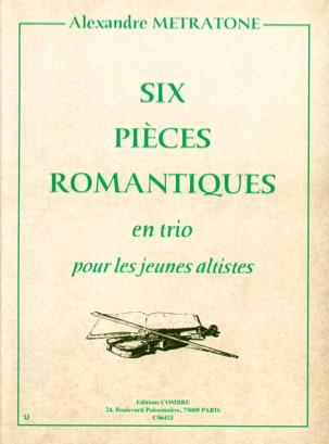 6 Pièces Romantiques Alexandre Metratone Partition laflutedepan