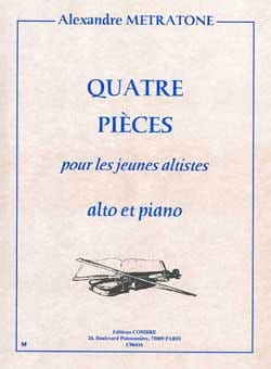 4 Pièces Alexandre Metratone Partition Alto - laflutedepan