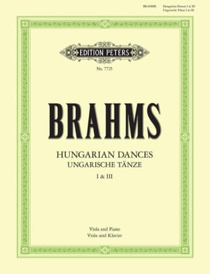 BRAHMS - Hungarian dances n ° 1 and 3 - Partition - di-arezzo.fr