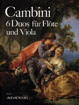 6 Duos Opus 4 Giuseppe Maria Cambini Partition Duos - laflutedepan