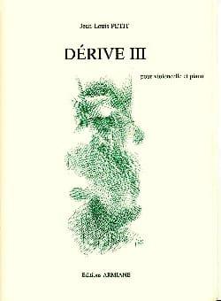 Dérive 3 Jean-Louis Petit Partition Violoncelle - laflutedepan