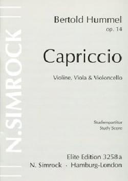 Capriccio –Stimmen - Bertold Hummel - Partition - laflutedepan.com