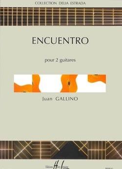 Juan Gallino - Encuentro - Partition - di-arezzo.fr