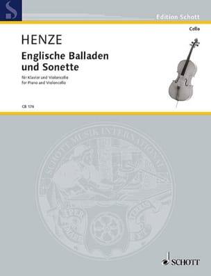 Hans Werner Henze - Englische Balladen und Sonette - Partition - di-arezzo.fr
