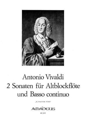 2 Sonaten - Il Pastor Fido - Altblockflöte u. Bc VIVALDI laflutedepan