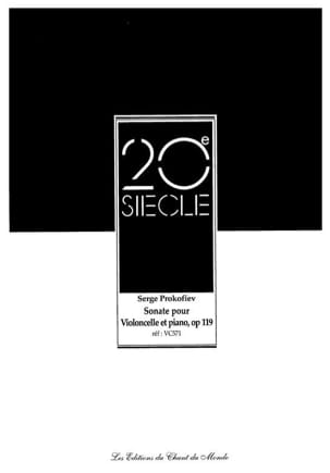 Serge Prokofiev - Sonata op. 119 for cello and piano - Sheet Music - di-arezzo.co.uk