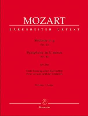 MOZART - Symphonie Nr. 40 g-moll KV 550 1. Fassung - Partitur - Partition - di-arezzo.fr