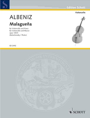 Isaac Albeniz - Malaguena op. 165 n ° 3 - Sheet Music - di-arezzo.co.uk