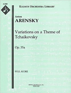 Anton Stepanovitch Arensky - Variations On A Theme Of Tchaikovsky Op. 35a - Sheet Music - di-arezzo.com