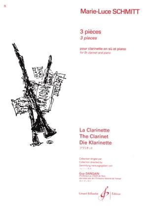 3 Pièces Marie-Luce Schmitt Partition Clarinette - laflutedepan