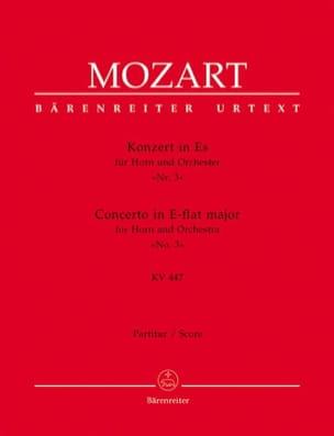 Wolfgang Amadeus Mozart - Concerto pour Cor N° 3 - Conducteur - Partition - di-arezzo.fr