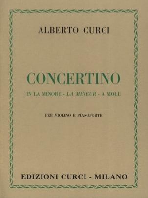 Alberto Curci - Concertino in la minore - Violon et piano - Partition - di-arezzo.fr