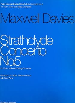 Davies Peter Maxwell - Strathclyde Concerto n° 5 - Partition - di-arezzo.fr