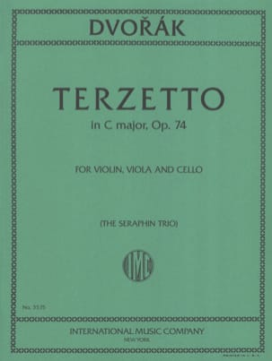 Antonin Dvorak - Terzetto C major op. 74 – Violin viola cello - Score + Parts - Partition - di-arezzo.fr
