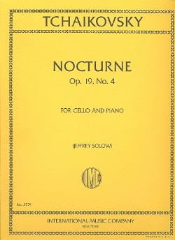 TCHAIKOVSKY - Nocturne op. 19 n ° 4 - Cello - Sheet Music - di-arezzo.com