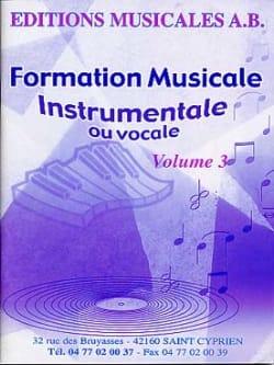 AB - FM Instrumentale Ou Vocale Volume 3 - Partition - di-arezzo.fr