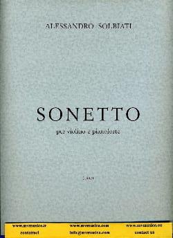 Alessandro Solbiati - sonetto - Sheet Music - di-arezzo.com