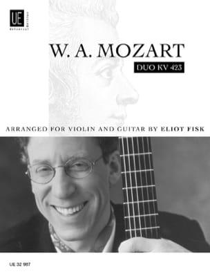 MOZART - Duo KV 423 - Violin Gitarre - Partitura - di-arezzo.es